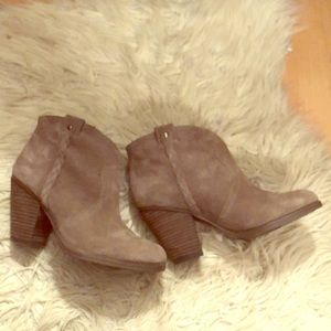 Vince Camuto Taupe Hudson Ankle Booties 6